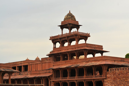 fatehpur sikri: Abandoned old city Fatehpur Sikri is built by Mughal emperors near Agra, India