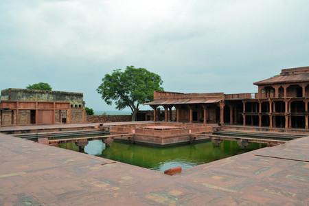 fatehpur sikri: Abandoned old city Fatehpur Sikri is site built by Mughal emperors near Agra, India Editorial
