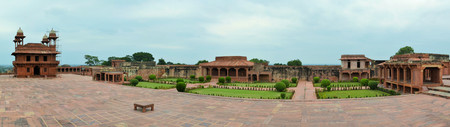 fatehpur sikri: Abandoned old city Fatehpur Sikri is a UNESCO World Heritage site built by Mughal emperors near Agra, India
