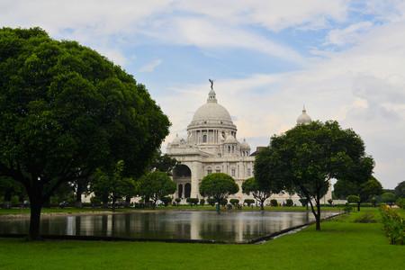 queen victoria: Victoria Memorial built as a palace for Queen Victoria, Kolkata, Calcutta, West Bengal, India