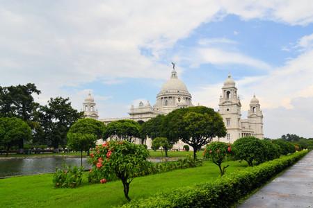 calcutta: Victoria Memorial built as a palace for Queen Victoria, Kolkata, Calcutta, West Bengal, India