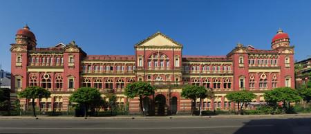 Old British colonial palace building in Yangon, Myanmar - Burma