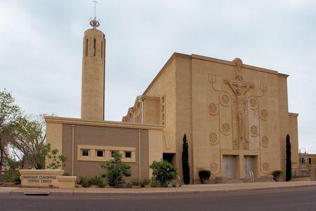 albuquerque: Catholic Christian church in downtown Albuquerque, New Mexico