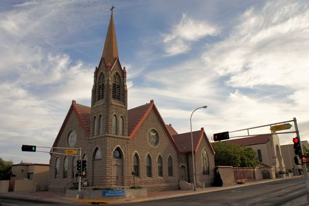 congregation: Church of the Christian methodist congregation in downtown Albuquerque, New Mexico Stock Photo