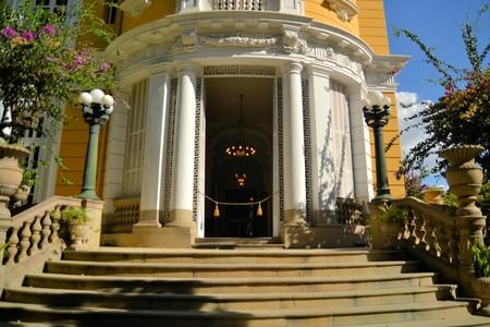 cochabamba: Colonial Palace of copper baron Simon Patino, Palacio Patino in Cochabamba, Bolivia Editorial
