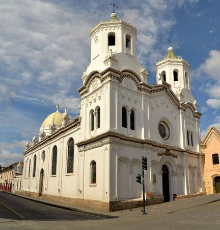 architectural heritage of the world: Cuenca is a colonial city, packed with historical monuments and architectural treasures. Historic center is a UNESCO World heritage site since 1996 Cuenca, Azuay Province, Ecuador, South America Editorial