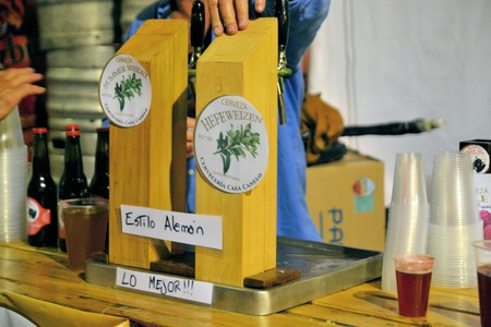 Puerto Varas, Chile - 19 January 2013: Prosit fest, an Octoberfest style German festival in a beer tent in Puerto Varas. Descendants of German settlers are still practising their traditions in Southern Chile around lake Llanquihue, Patagonia Editorial