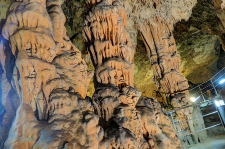 Biserujka Cave located northeast of Dobrinj, in the village of Rudine, above Slivanjska Bay, in the island of Krk, Croatia Stock Photo