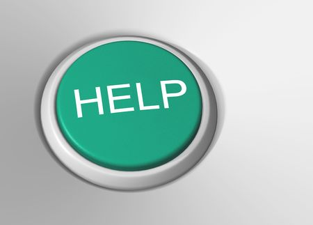 green help button Stock Photo - 3634778