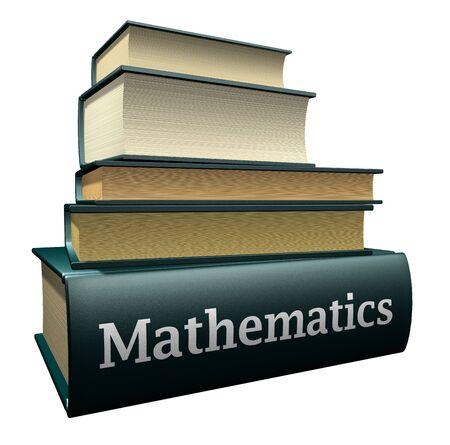 book case: education books mathematics