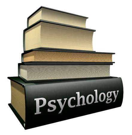 education books - psychology  Stock Photo