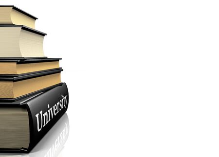 book case: Education books - university
