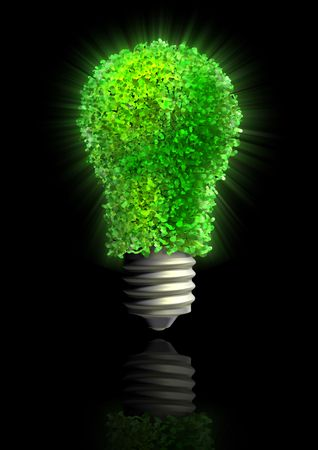 reprocessing: Green eco energy Stock Photo