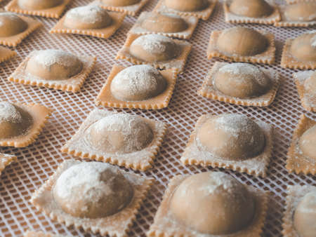 Delicious fresh handmade ravioli for delivery restaurants - gluten free traditional vegan noodles and pasta, CBD,