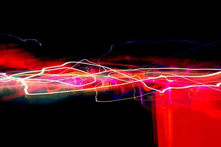 exposicion: Abstract Long Exposure Foto de archivo
