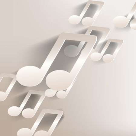 paper background with music web icon,flat design Vector