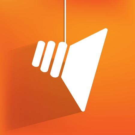 speaker icon: speaker icon, flat design Illustration