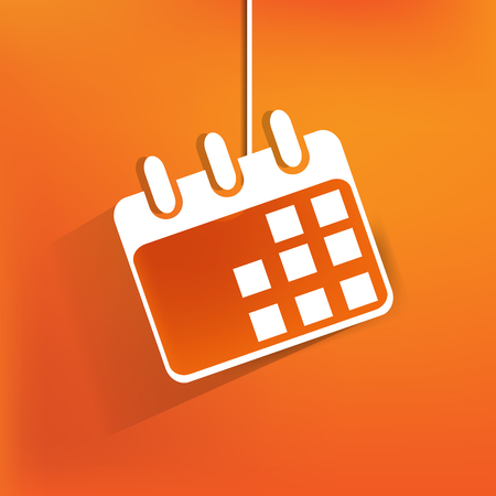 Calendar organizer web icon,flat design Vector