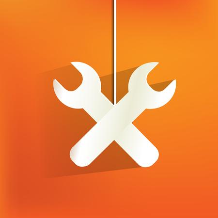 Vector repair web icon,flat design Stock Vector - 22965243