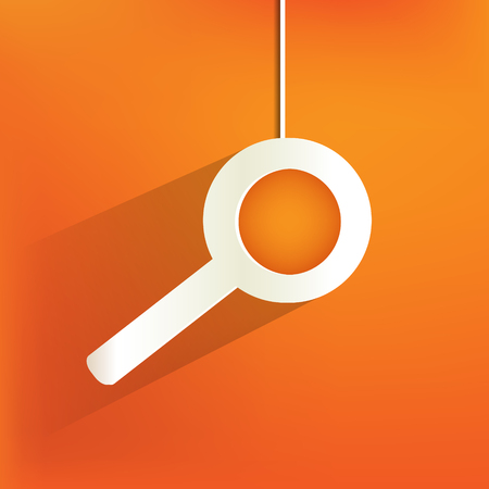 search web icon,flat design Vector
