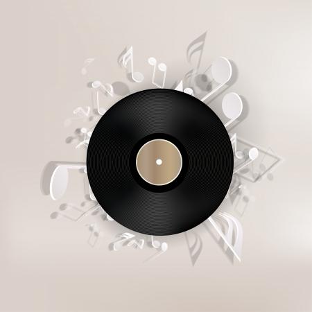 抽象的な音楽的な背景  イラスト・ベクター素材