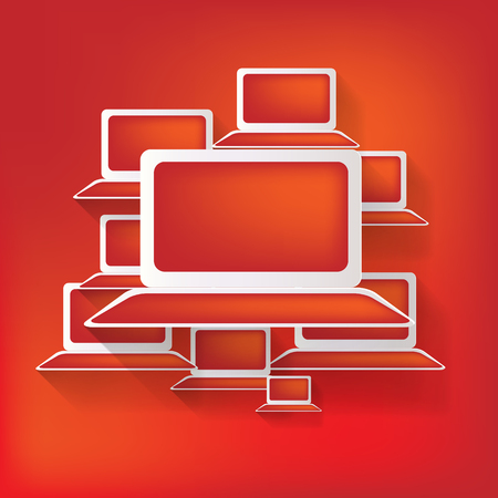 Notebook web icon,flat design Vector
