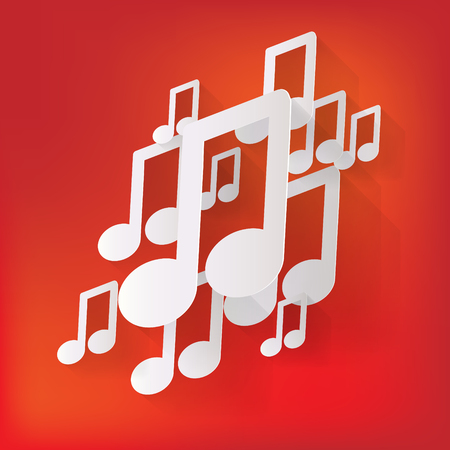 Music web icon,flat design Vector