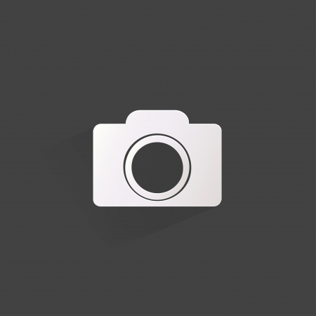 Photo camera web icon,flat design Vector