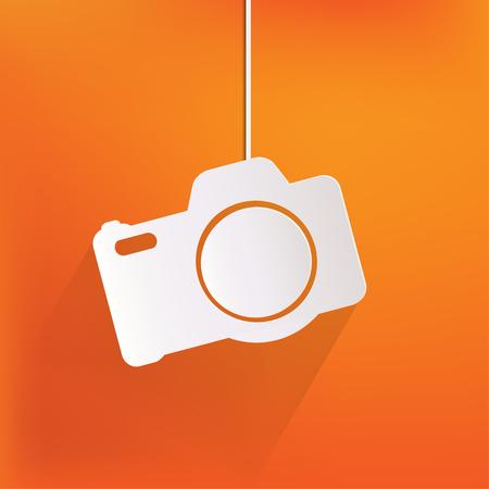 photography studio: Photo camera web icon,flat design Illustration