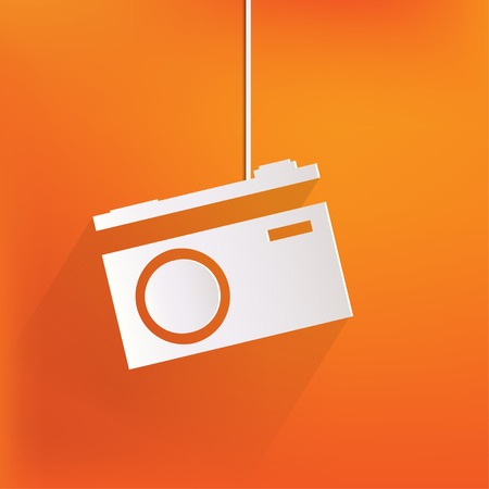 photography icons: Photo camera web icon,flat design Illustration