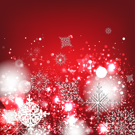 Elegant Christmas background with snowflakes Vector
