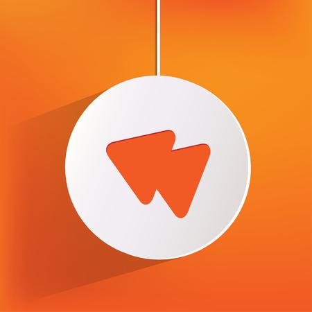 reverse: Reverse or rewind web icon Illustration