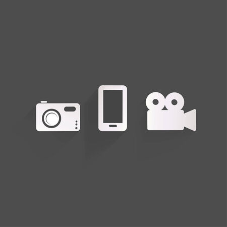 photo icons: Background with photo icons Illustration