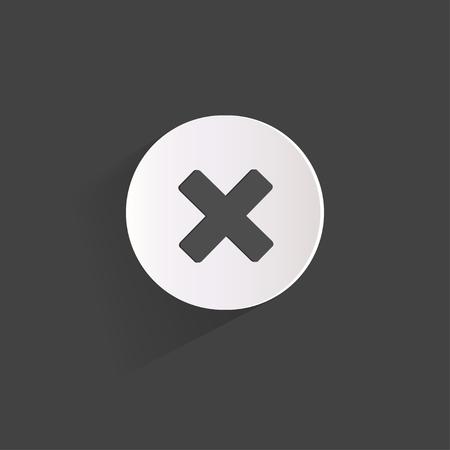 Delete web icon Stock Vector - 23009152