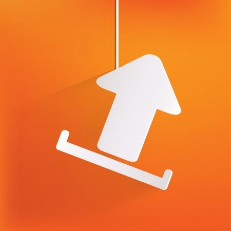 Upload web icon Vector