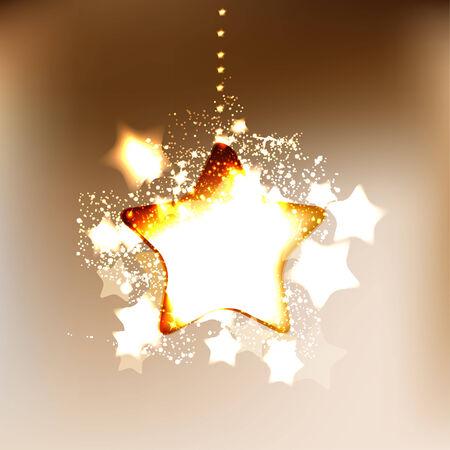 gold stars: Elegant Christmas background with snowflakes Illustration