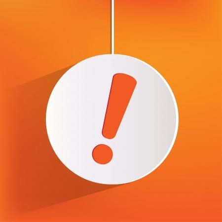 alerta: Exclamación peligro icono de la web Vectores
