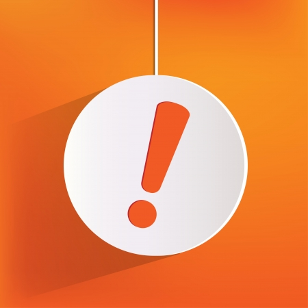 alert: Exclamation danger web icon