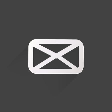 Web letter icon,flat design Vector