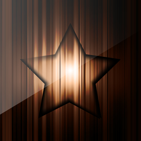Abstract background with colored lines and star on paper layers Vector