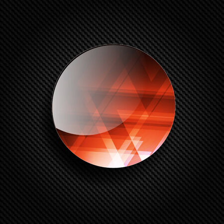 abstract bacground: Abstract bacground with carbon texture and geometric elements Illustration