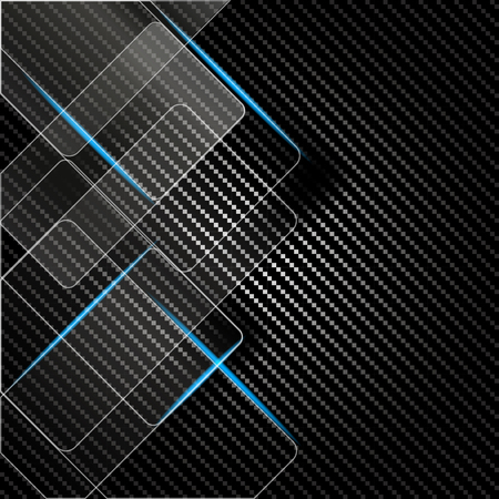 silver screen: Metallic background with carbon texture