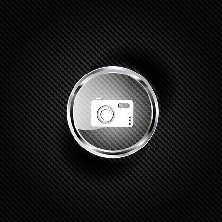 Photo camera web icon Stock Vector - 23067160
