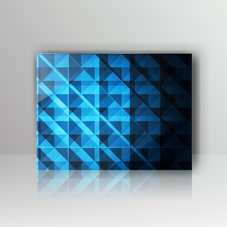 card with abstract geometrical background Vector