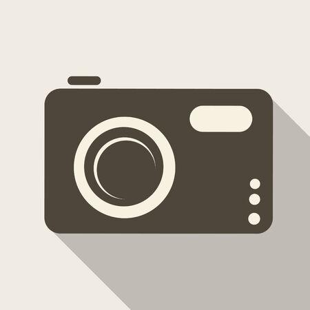 Photo camera web icon Stock Vector - 23067505