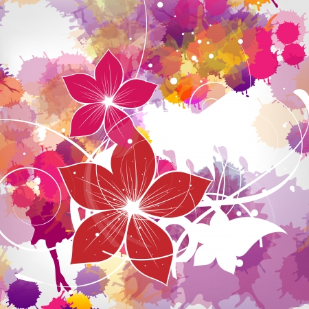 abstract vintage floral background Stock Vector - 23067616