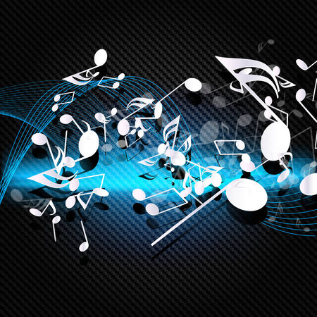 Abstract musical background with carbon texture Vector