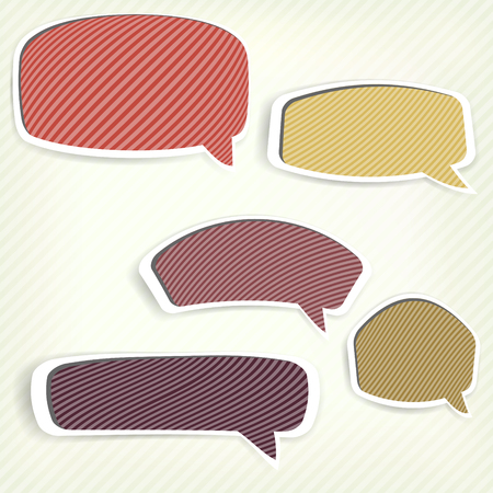 Paper origami speech bubble. Colored blank for text Vector