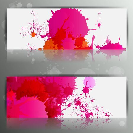 Banner with splash on abstract background Stock Vector - 23096627