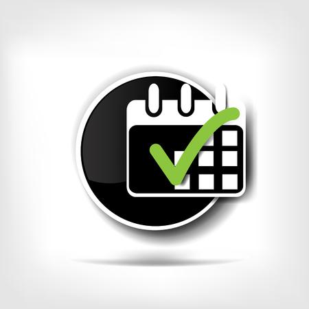 Calendar organizer web icon Illustration